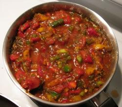 Stewed Tomatoes And Green Pepper