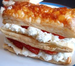 Light Strawberry and Chantilly Cream Pastries