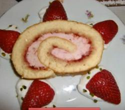 Chinese Strawberry Cake Roll, Swiss Roll