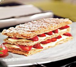 Strawberry & Lemon Curd Mille-Feuille
