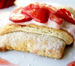 Strawberry Shortcake with Strawberry Vanilla Cream