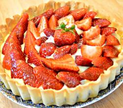 Strawberry Tart (Tarte Aux Fraises) - Homemade