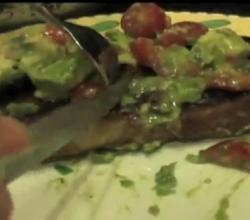 Beef Strip Steak with Chunky Guacamole Salsa