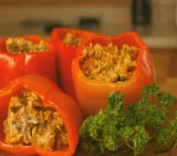 Lindsey's Stuffed Red Bell Peppers
