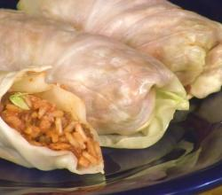 Lentil and Rice Stuffed Cabbage Rolls