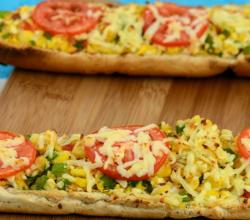 Stuffed Corn and Paneer Footlong by Tarla Dalal