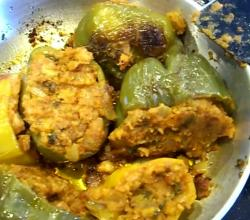 Stuffed Peppers / Stuffed Capsicum / Bharva Shimla Mirch / Masala Shimla Mirch