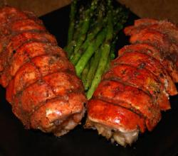 Stuffed Rock Lobster Tails