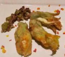 Batter Fried Zucchini Flowers