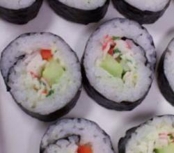 Sushi with Avocado and Cucumber