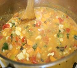 Sweet Potato Stew with Swiss Chard