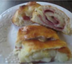 Swiss Cheese and Salami Stromboli