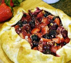 Mixed Berry and Almond Tart