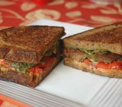 Tempeh Double-Decker Sandwich