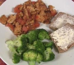 Tempeh with Tomatoes