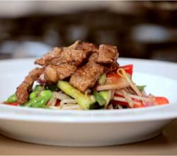Juicy Beef Steak topped Thai Salad