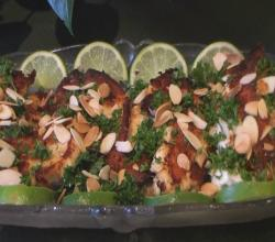 Tilapia Fillets with Grilled Almonds.
