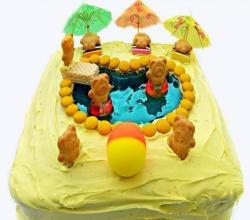 Tiny Teddy Swimming Pool Cake