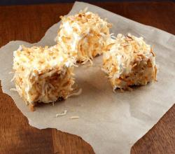 Toasted Coconut Tea Squares