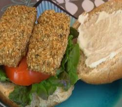 Tofu Phish Fillets - Yummy Vegan Sandwich