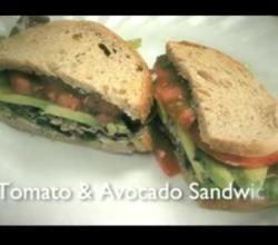 Healthy Tomato and Avocado Sandwich