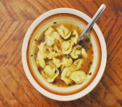 Tortellini with Broth - Homemade Cold Remedy