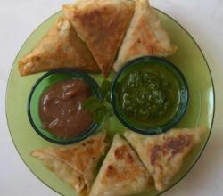 Triangle Samosa with Spring Roll Sheets - Bite size Samosas - Perfect for party!