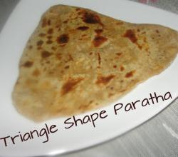 Triangle Shaped Namak Mirch Paratha