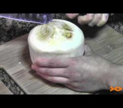 Trick To Open a Coconut