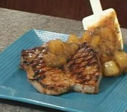 Grilled Pork Chops Tropical Style