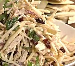 Turkey Salad - Simple Turkey Salad With Celery Root and Apple