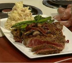 Oven-grilled Prima Vera Rib Eye Steaks