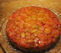 Fresh Rhubarb Upside Down Cake