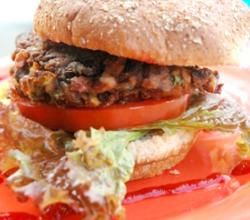 Vegan Mushroom And Black Eye Pea Burger
