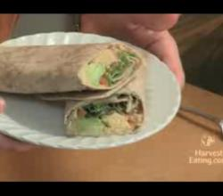 Healthy Vegan Wrap with Hummus