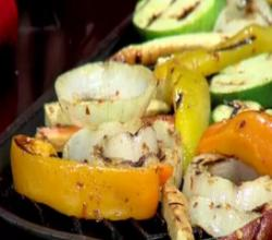 Red Pepper Grilled Vegetables - Easy Real Whole Food Fast - CFJC Midday