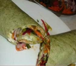 Vegetable Sandwich Wrap - No Bread Sandwich
