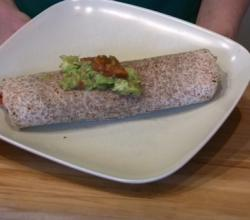 Burrito with Vegetable and Rice Filling