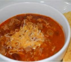 Venison Chili with Pork Sausage