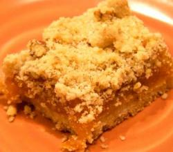 Walnut Apricot Bars   