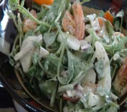 Watercress Salad with Parmesan Peppercorn Dressing