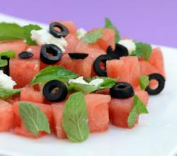 Watermelon and Feta Cheese Salad