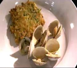 Wegmans Classic Steamed Clams with Zucchini & Corn Cakes