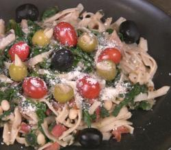Fettuccini with White Beans and Greens
