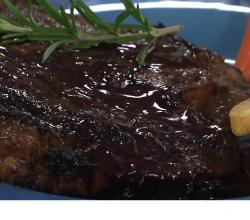 Worcestershire Marinated Steak with Red Wine Reduction