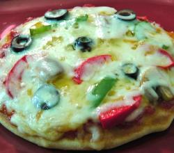 Homemade Yeast Free Veg Pizza