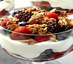 Healthy Fruity Chocolate Yogurt Parfait