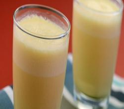 Orange Yoghurt Shake by Tarla Dalal