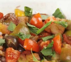 Zesty Tomato Salad with Healthy Heirloom Tomatoes