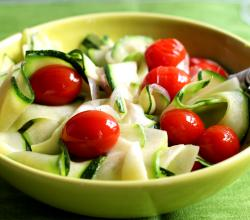 Steamed Zucchini With Tomatoes